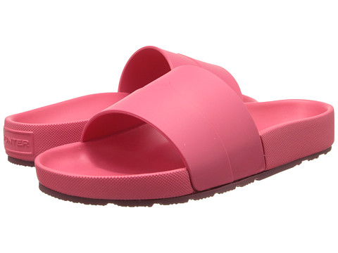 Hunter - Moustache Slide (Bright Watermelon/Dam) Women's Sandals