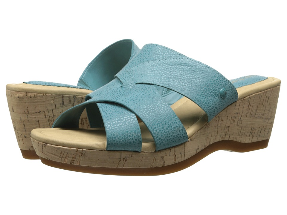 Hush Puppies Janae Farris (New Teal Leather) Women