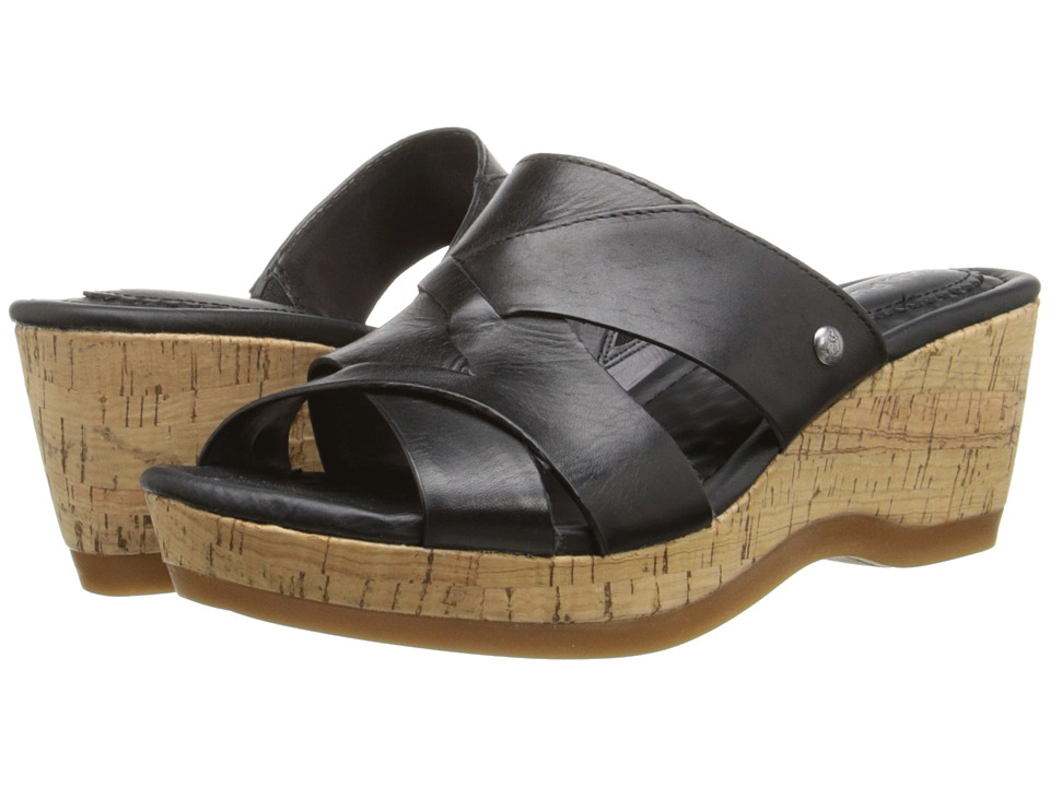 Hush Puppies - Janae Farris (Black Leather) Women