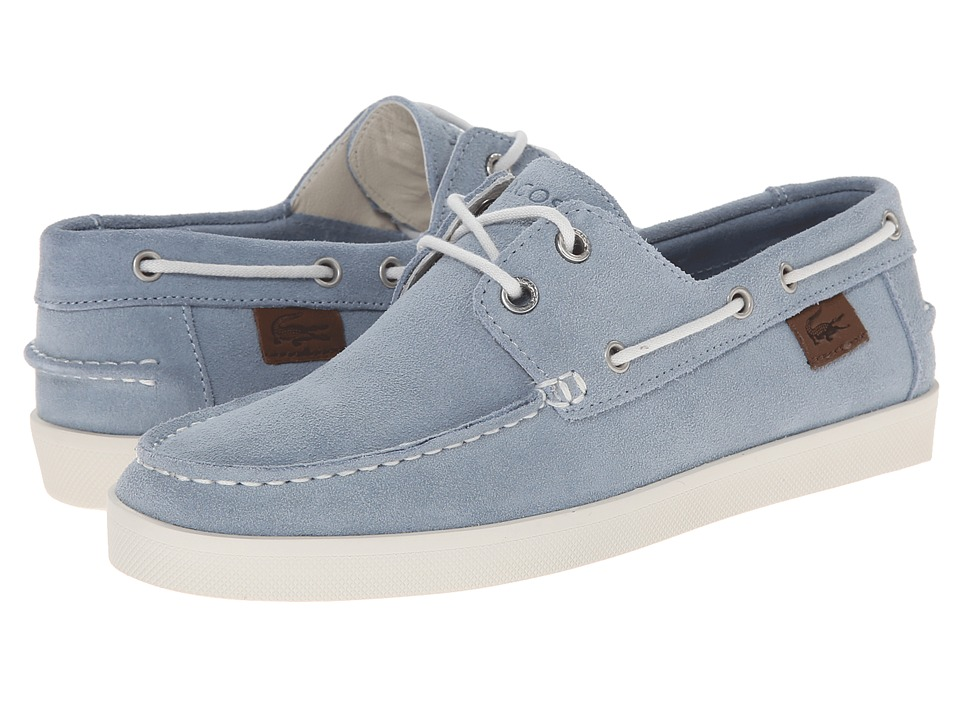 Lacoste - Cauvin (Light Blue) Women's Flat Shoes