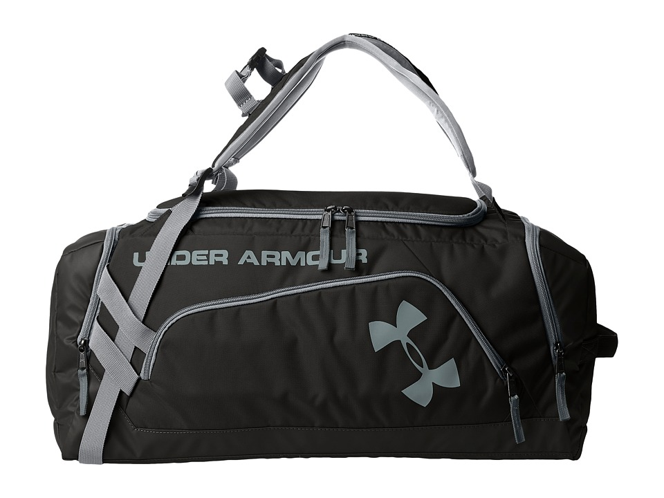 Under Armour - UA Contain Backpack/Duffel II (Black/Steel/Steel) Duffel Bags