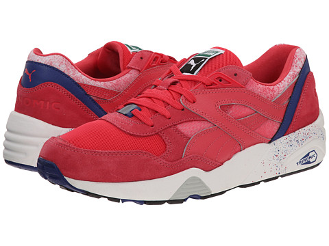 PUMA - R698 Splatter (Teaberry Red/Mazarine Blue) Men's Shoes