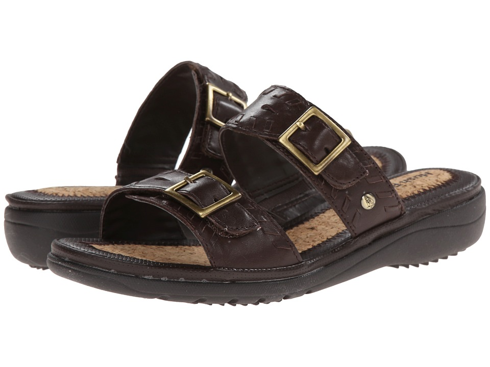 Hush Puppies - Rebecca Keaton (Dark Brown Leather) Women's Sandals