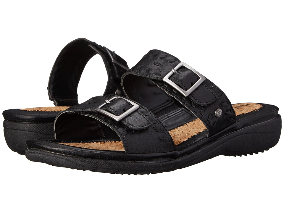 Hush Puppies - Rebecca Keaton (Black Leather) Women's Sandals