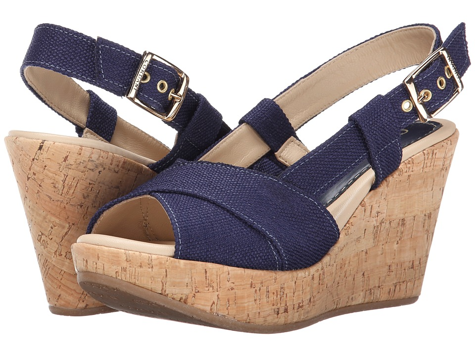 Cordani - Emelie (Blue Texture) Women's Wedge Shoes