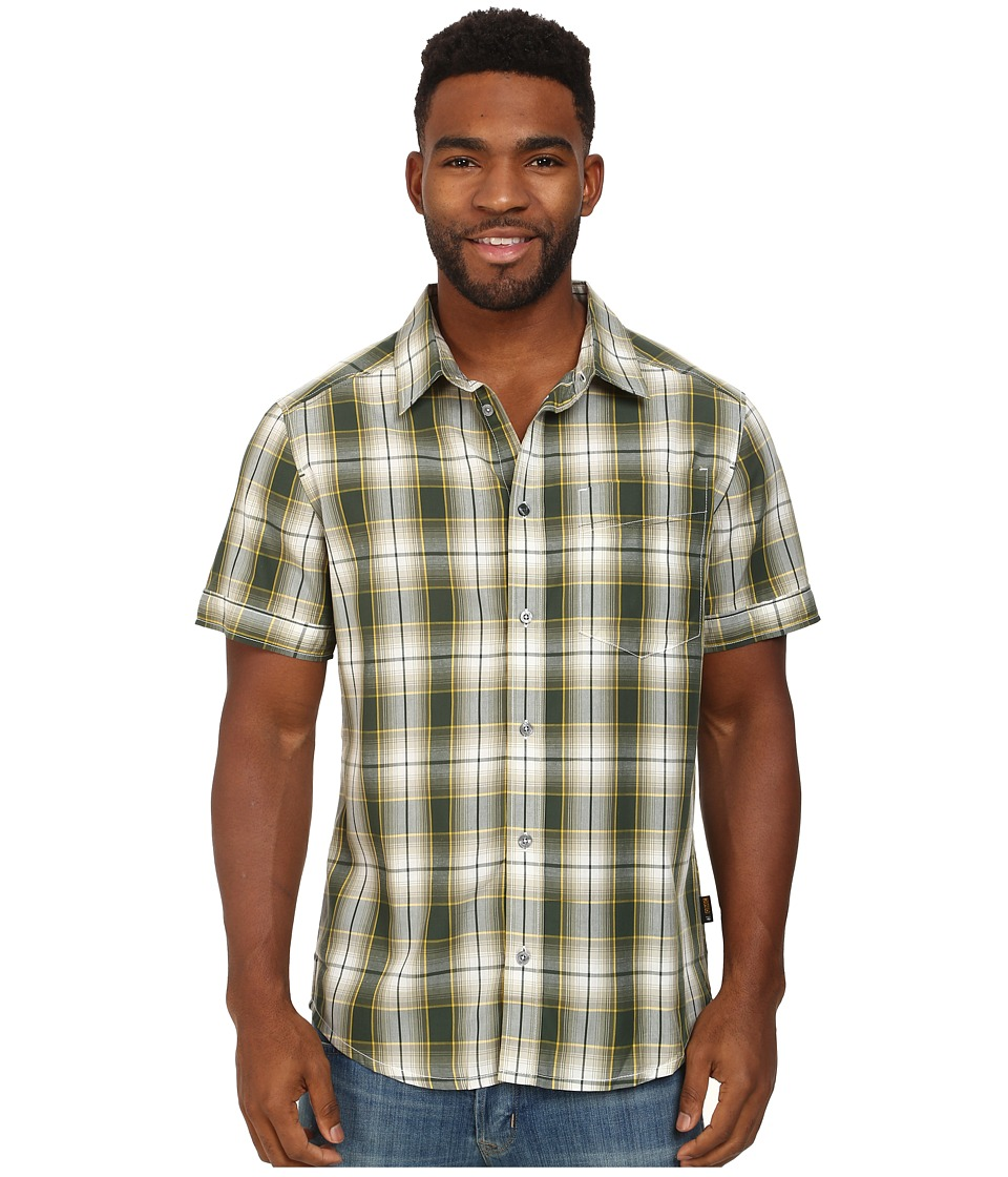 Jack Wolfskin - Fairford Shirt (Moss Green Checks) Men's Clothing