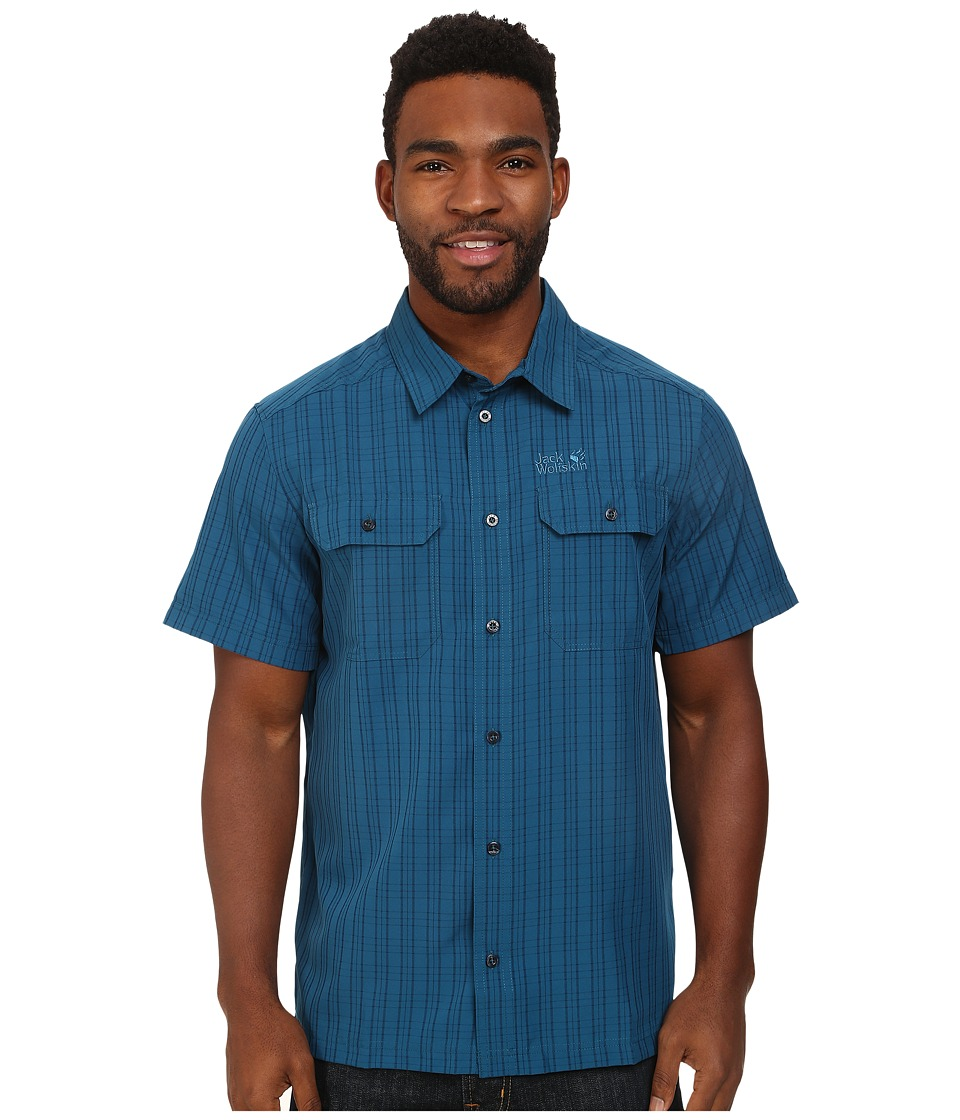 Jack Wolfskin - Thompson Shirt (Moroccan Blue Checks) Men's Clothing