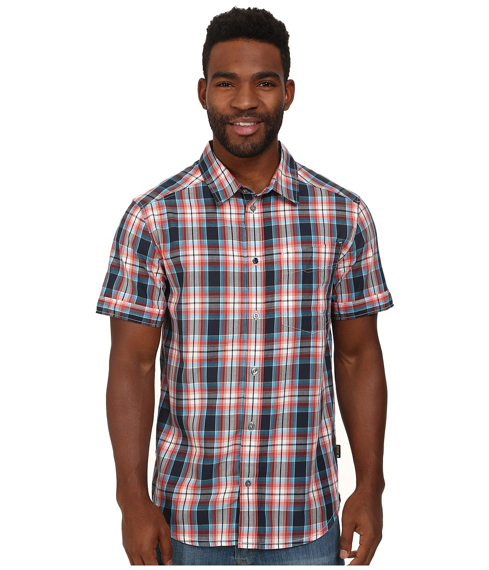 Jack Wolfskin - Fairford Shirt (Bright Pumpkin Checks) Men's Clothing