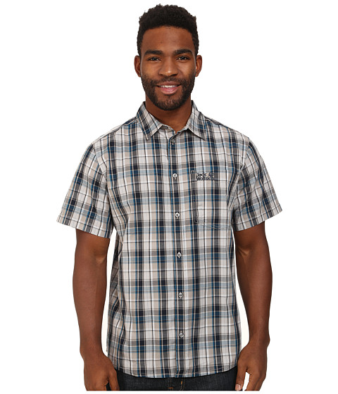 Jack Wolfskin - Hot Chili (Moroccan Blue Checks) Men's Clothing