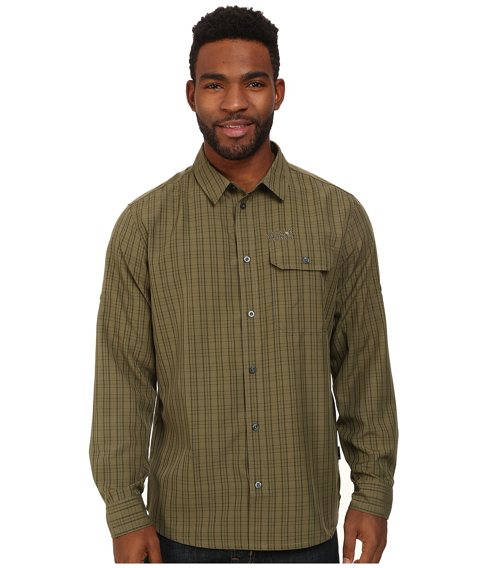 Jack Wolfskin - Tasman Shirt (Burnt Olive Checks) Men's Clothing
