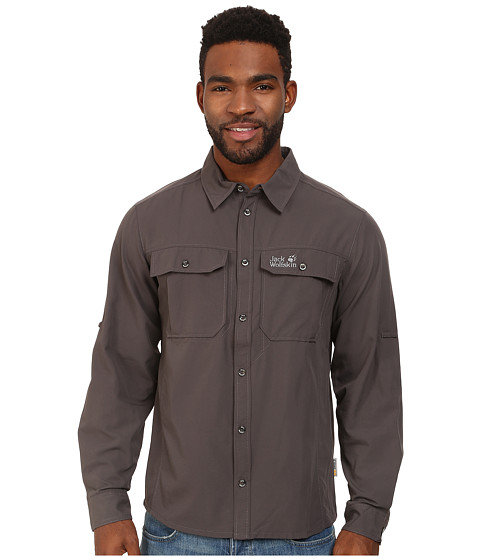 Jack Wolfskin - Mosquito Safari Shirt (Dark Steel) Men's Clothing
