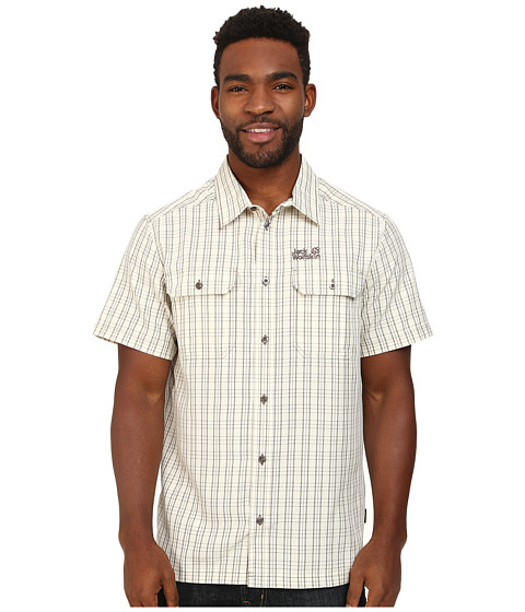 Jack Wolfskin - Thompson Shirt (White Sand Checks) Men's Clothing