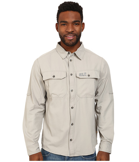 Jack Wolfskin - Mosquito Safari Shirt (Humid Sand) Men's Clothing