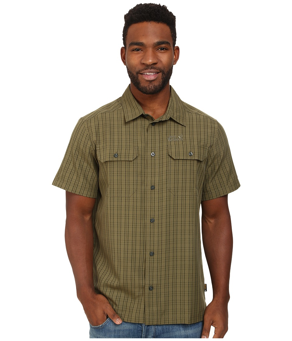 Jack Wolfskin - Thompson Shirt (Burnt Olive Checks) Men's Clothing