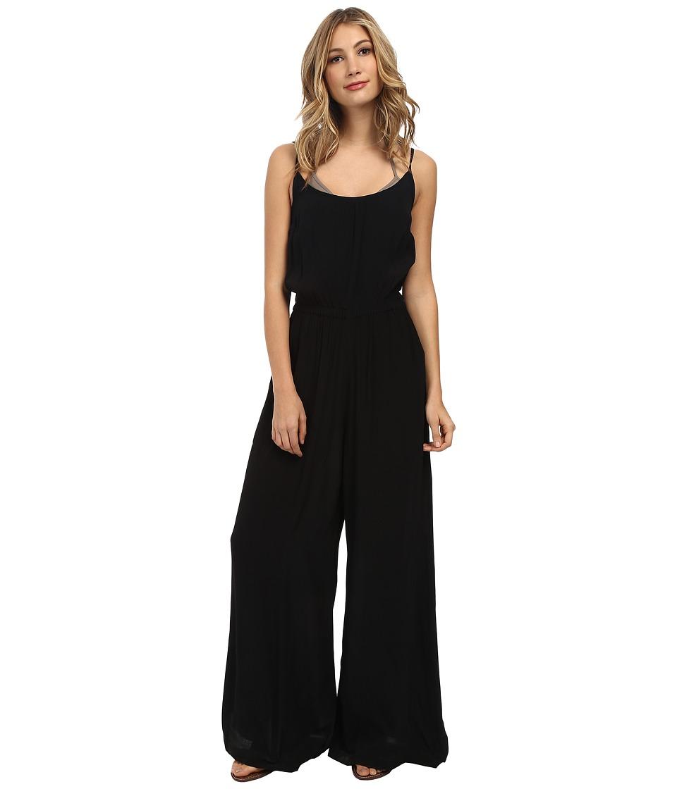 Vix - Solid Black Katy Jumpsuit Cover-Up (Black) Women