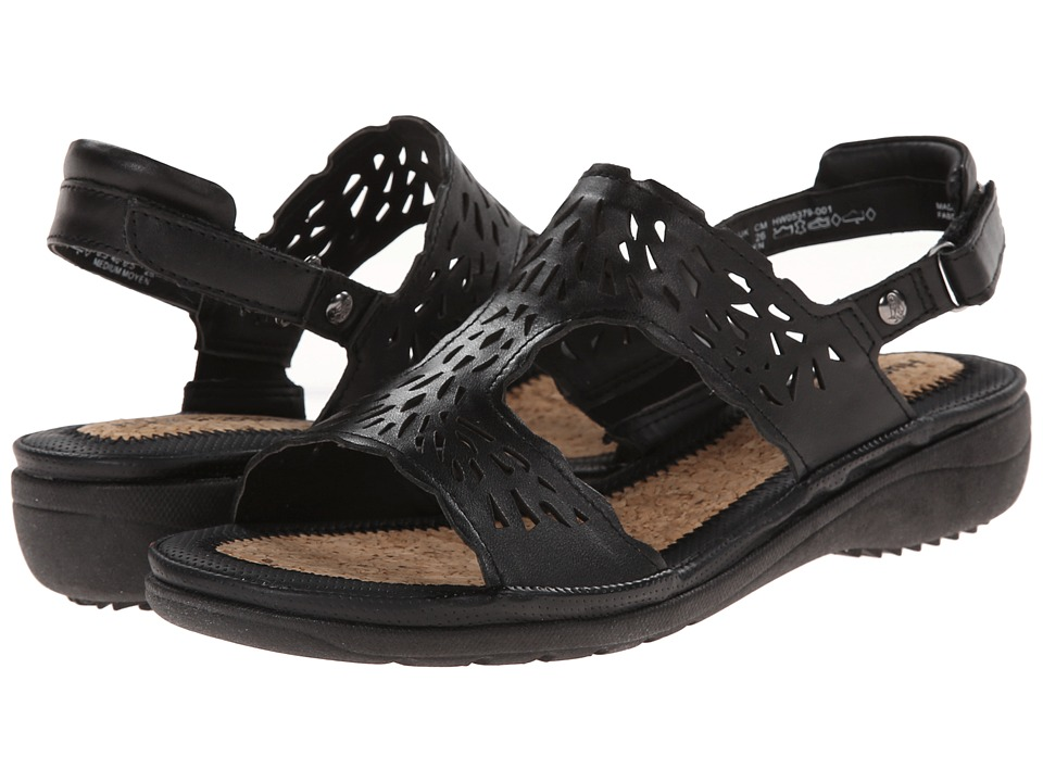 Hush Puppies - Regina Keaton (Black Leather) Women's Sandals