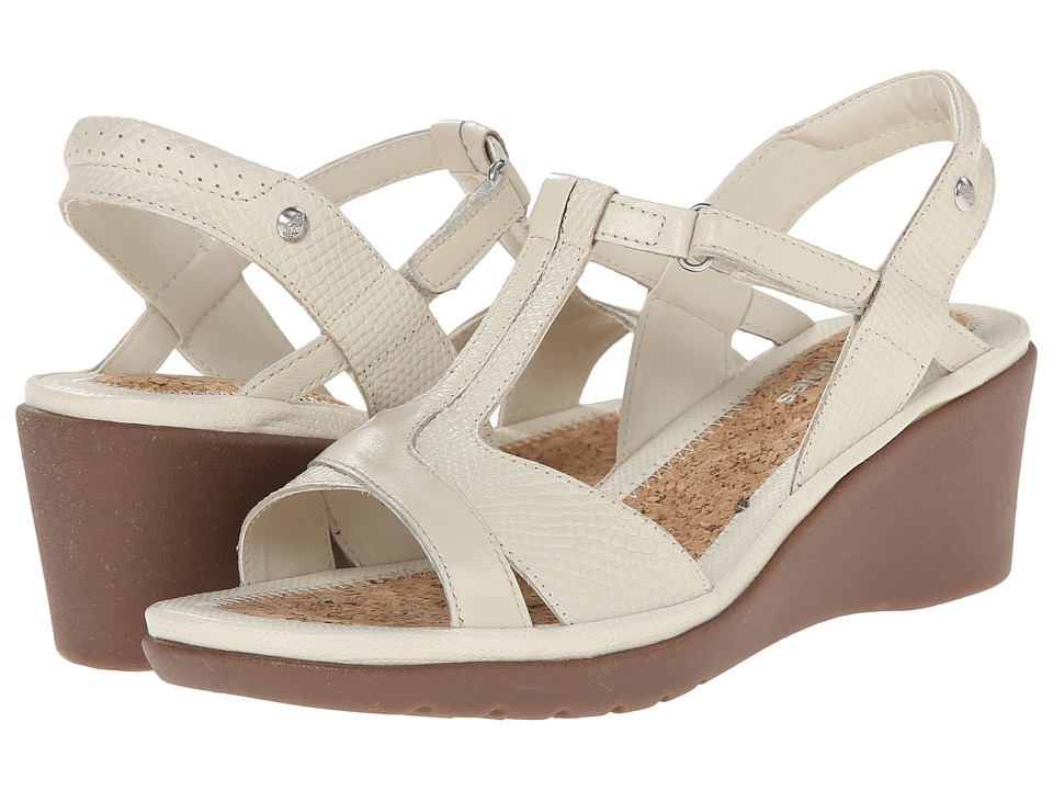 Hush Puppies - Natasha Russo (Off White Leather) Women's Wedge Shoes
