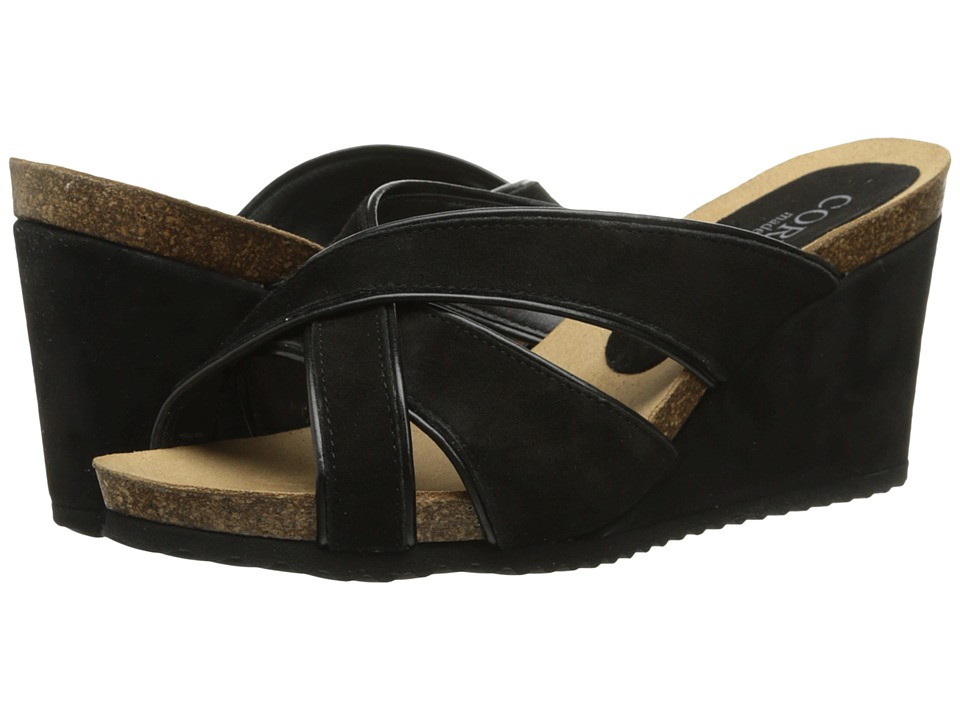 Cordani - Avery (Black Suede) Women's Wedge Shoes