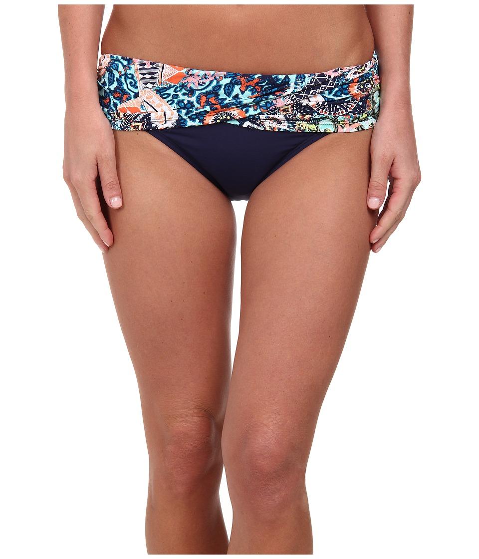 Bleu Rod Beattie - La Boheme Sarong Midster Bottom (Multi Navy) Women's Swimwear