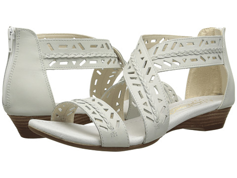 Hush Puppies - Panache Ankle Strap (White Leather) Women's Sandals