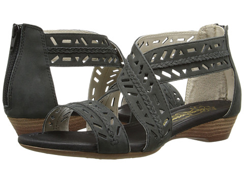 Hush Puppies - Panache Ankle Strap (Black Nubuck) Women