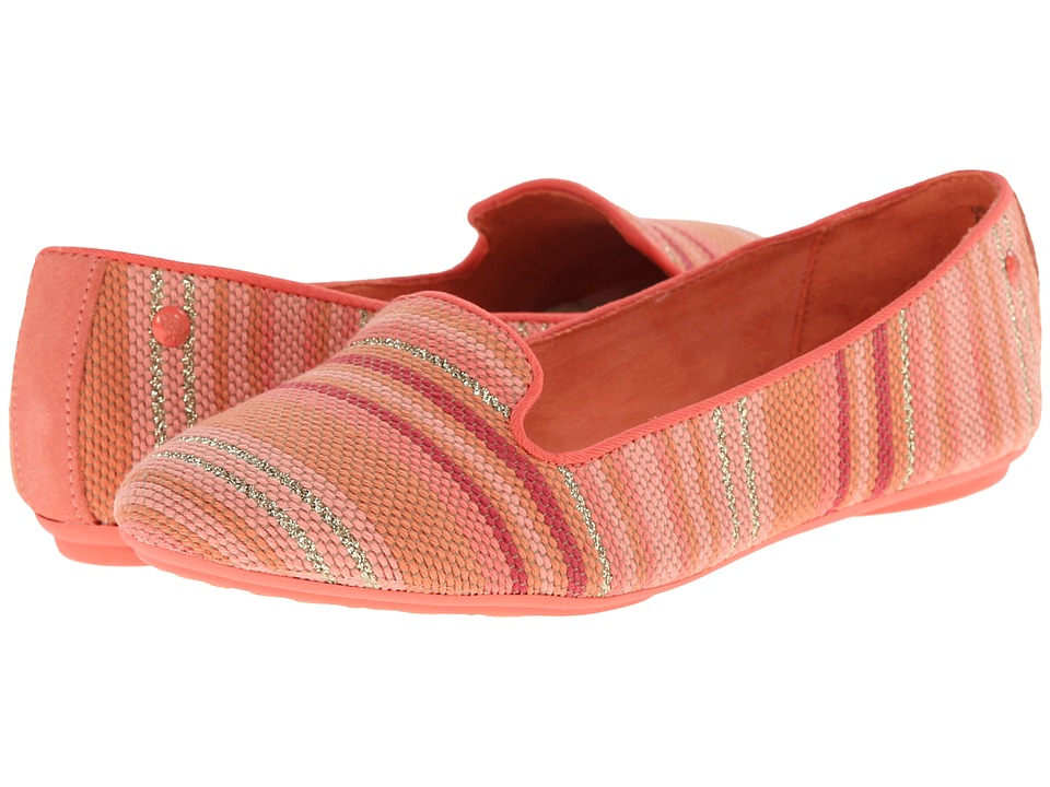 Hush Puppies Flossie Chaste (Coral Stripe Woven) Women