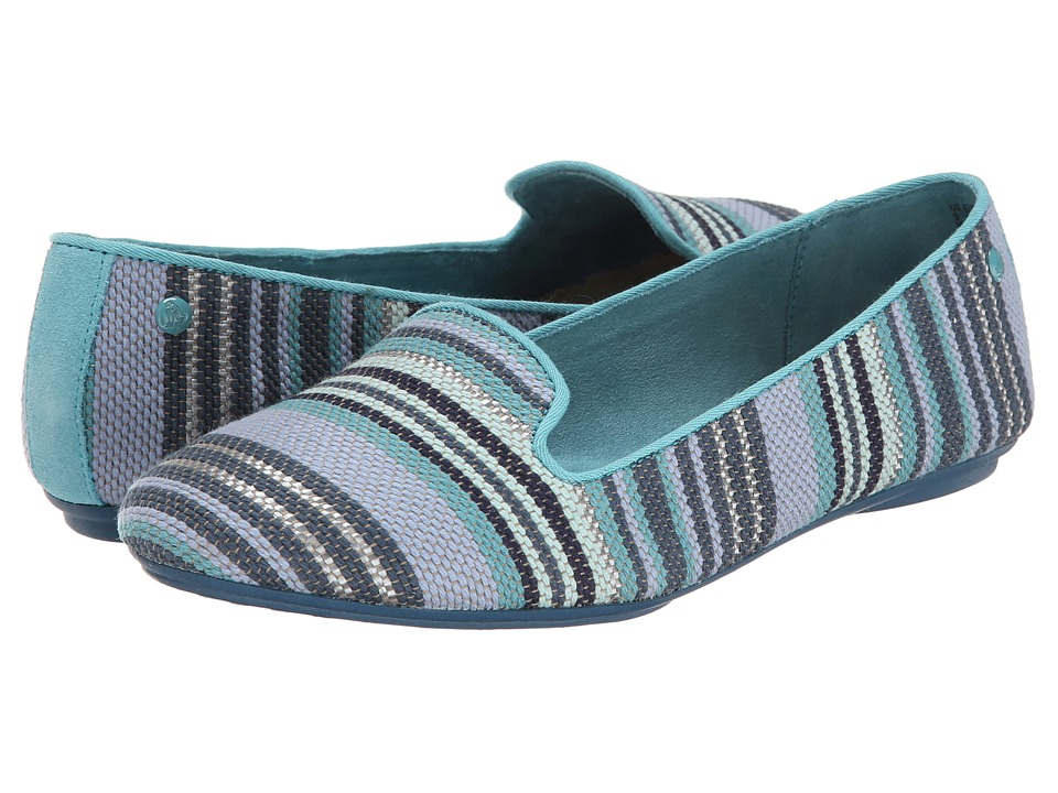 Hush Puppies Flossie Chaste (New Teal Stripe Woven) Women
