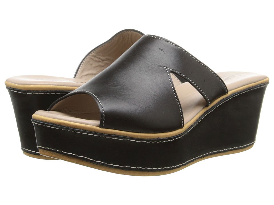 Cordani - Kepler (Black Leather) Women's Wedge Shoes