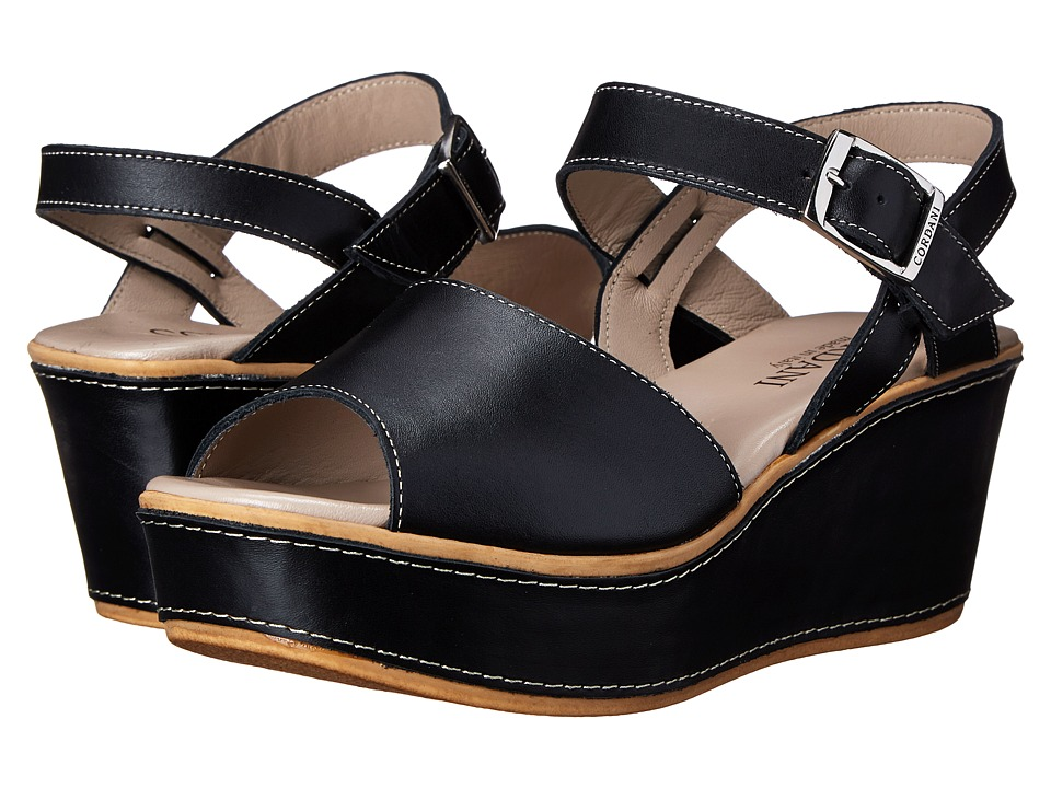 Cordani - Karlin (Black Leather) Women's Wedge Shoes