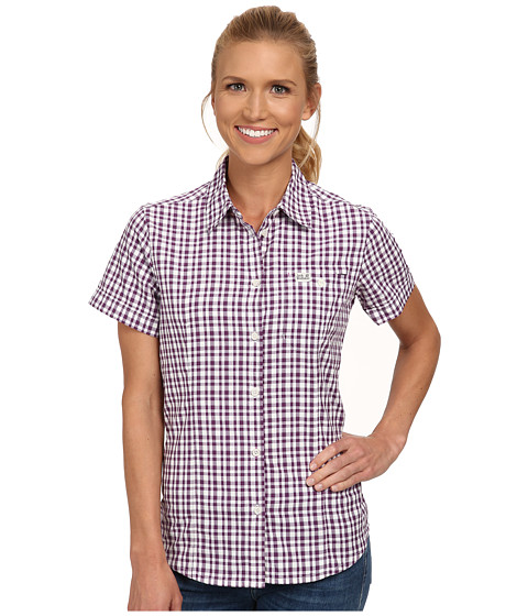 Jack Wolfskin - Flaming Vent Shirt (Hyacinth Checks) Women's Clothing