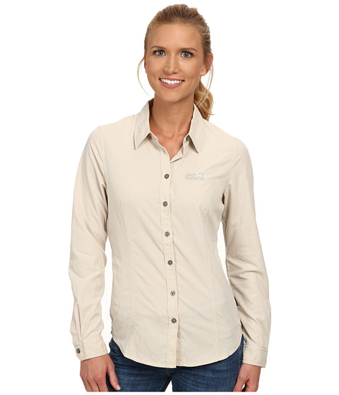 Jack Wolfskin - Rayleigh Stretch Vent Shirt (White Sand) Women's Clothing