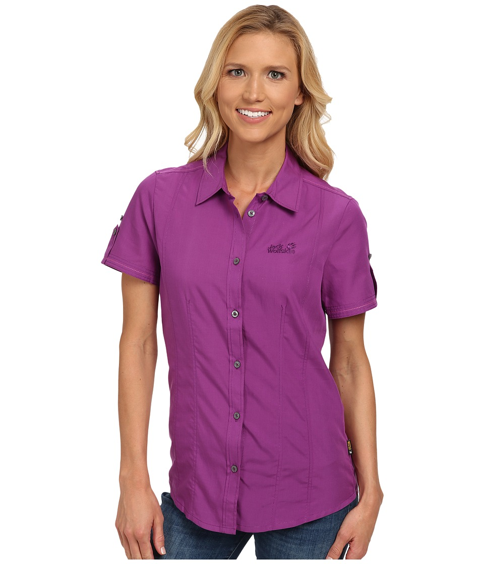 Jack Wolfskin - Beyond Shirt (Hyacinth) Women's Clothing