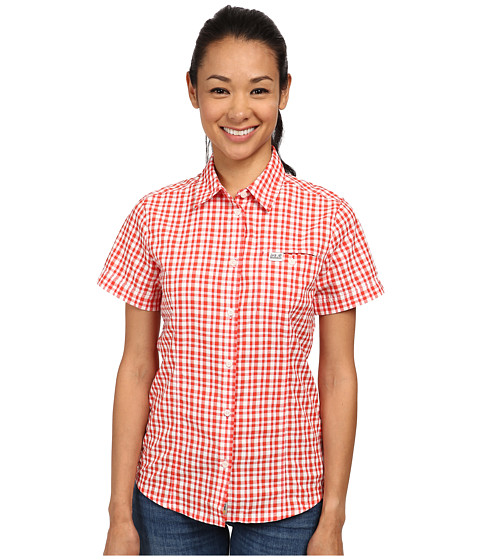 Jack Wolfskin - Flaming Vent Shirt (Red Fire Light Checks) Women