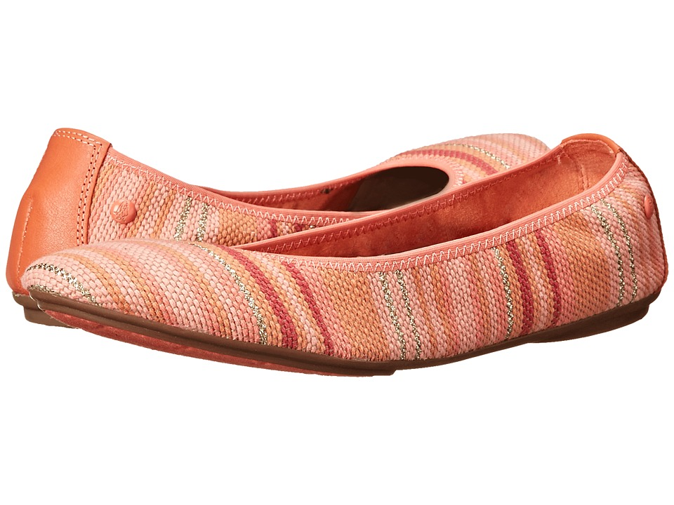 Hush Puppies - Chaste Ballet (Coral Stripe Woven) Women