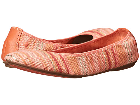 Hush Puppies - Chaste Ballet (Coral Stripe Woven) Women's Flat Shoes