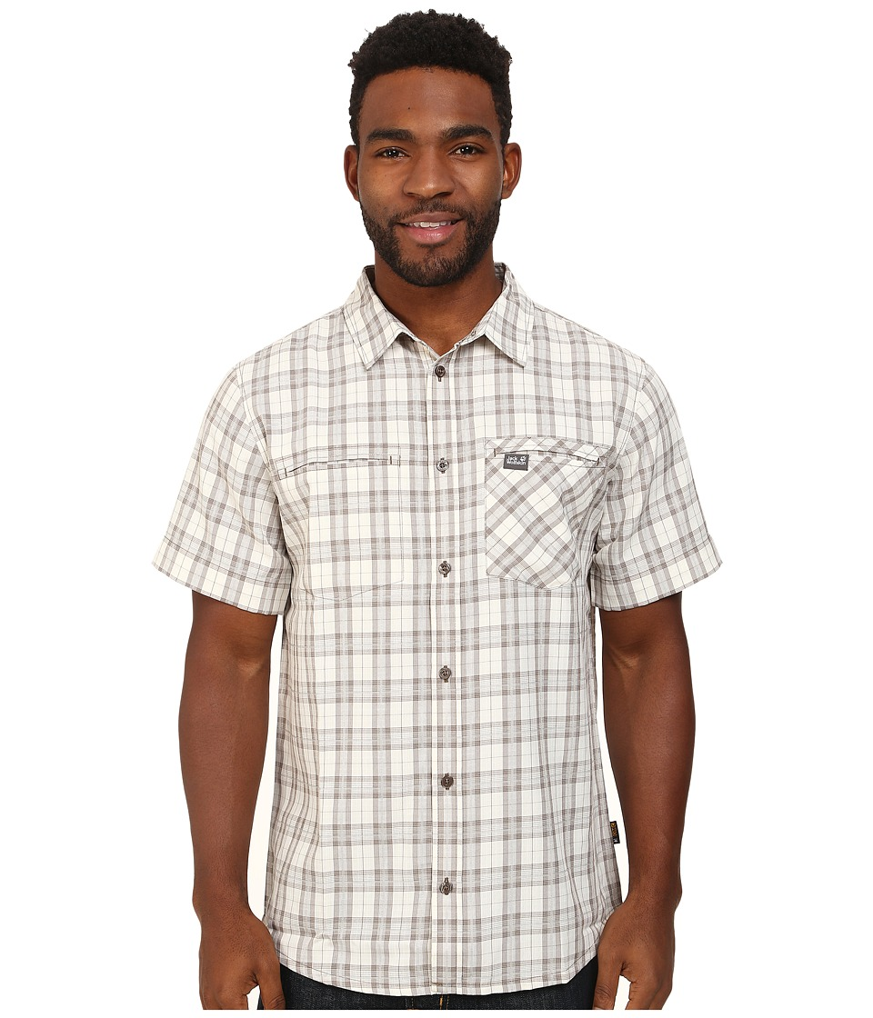 Jack Wolfskin - Arthurs Vent Shirt (White Sand Checks) Men's Clothing