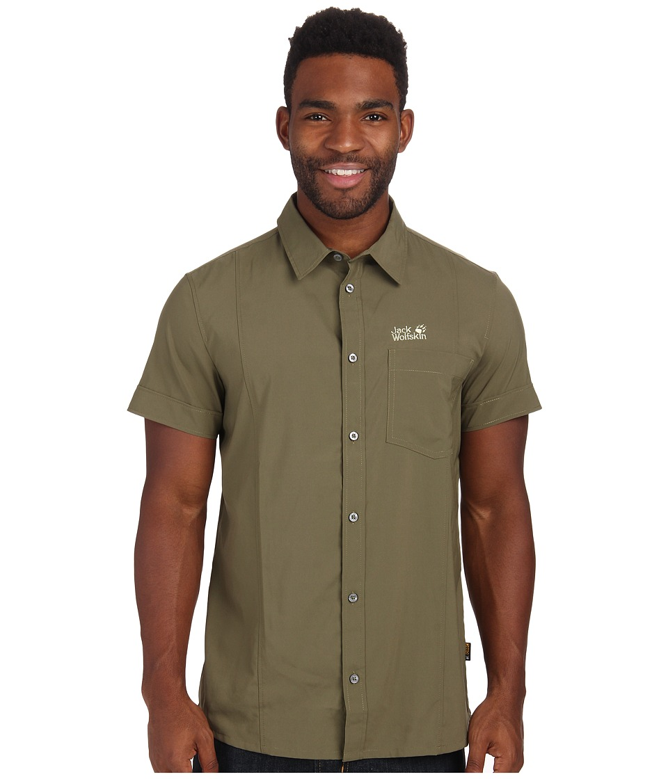 Jack Wolfskin - Egmont Shirt (Burnt Olive) Men's Short Sleeve Button Up