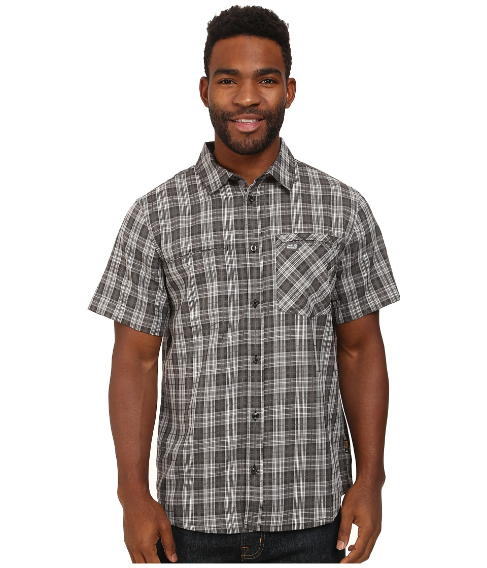 Jack Wolfskin - Arthurs Vent Shirt (Dark Steel Checks) Men's Clothing
