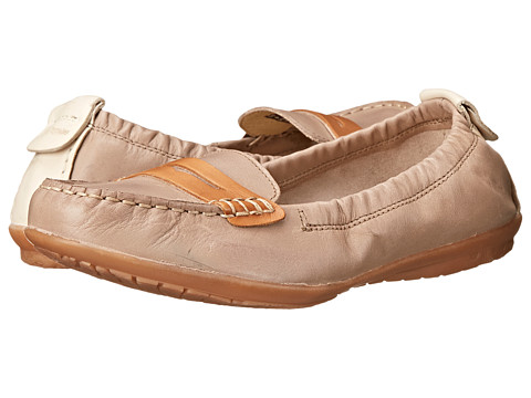 Hush Puppies - Katherine Ceil (Taupe Leather) Women's Slip on Shoes