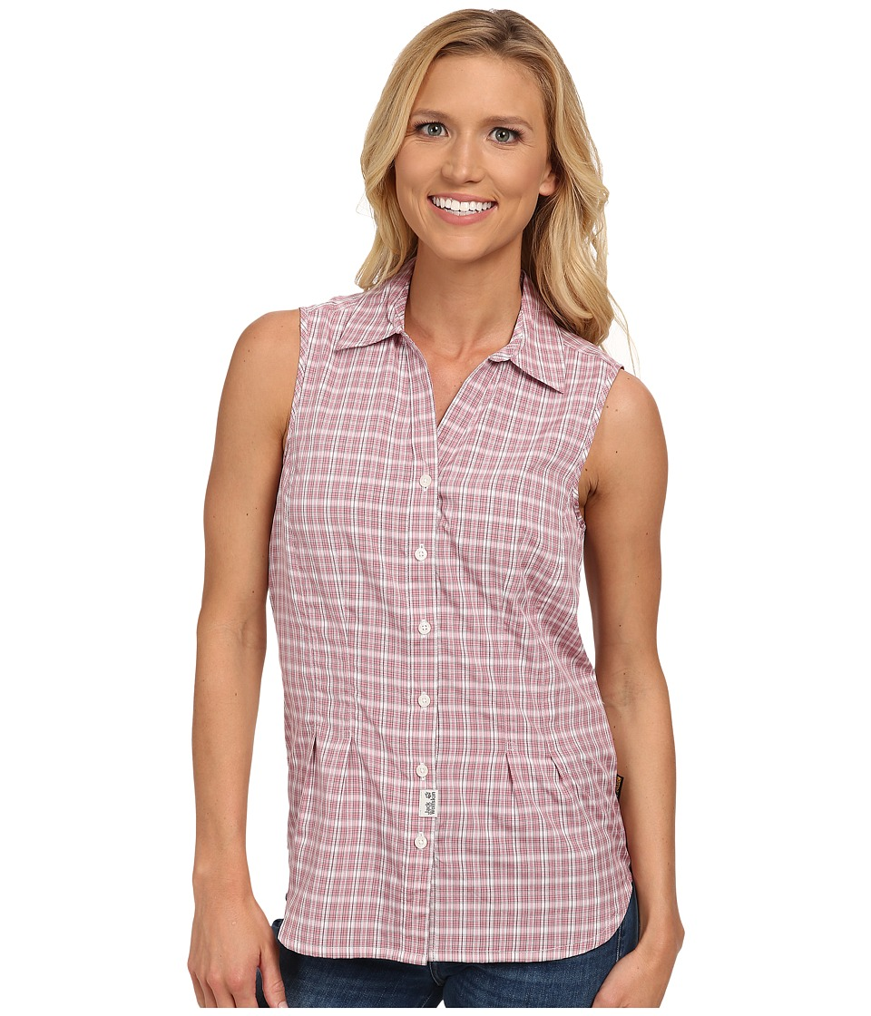 Jack Wolfskin - Tongari Shirt (Rosedust Checks) Women's Clothing