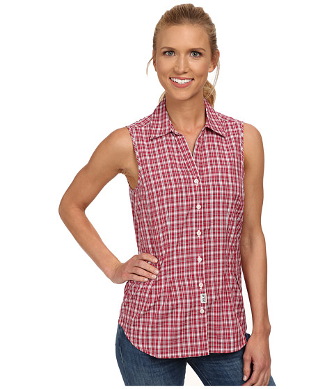 Jack Wolfskin - Tongari Shirt (Azalea Red Checks) Women's Clothing