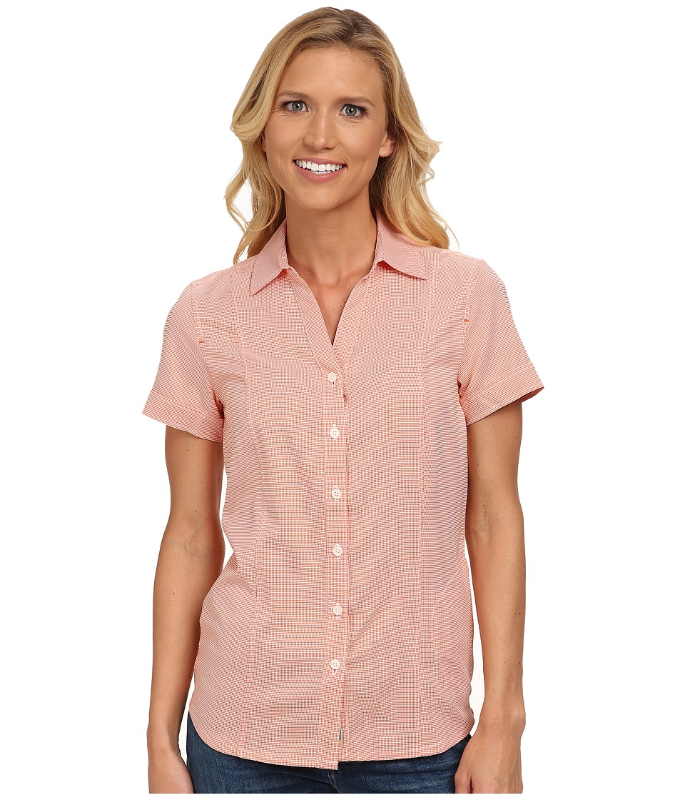 Jack Wolfskin - Kepler Shirt (Koi Orange Checks) Women's Clothing
