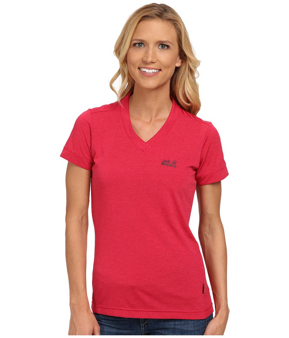 Jack Wolfskin - Crosstrail T (Azalea Red) Women's T Shirt