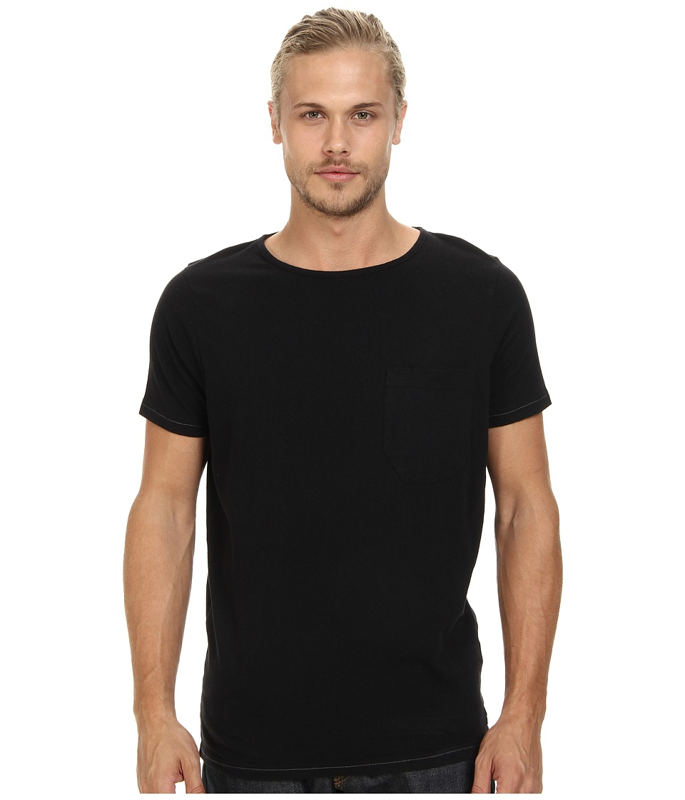 French Connection - Livingstone Plain Crew (Black) Men's Short Sleeve Pullover