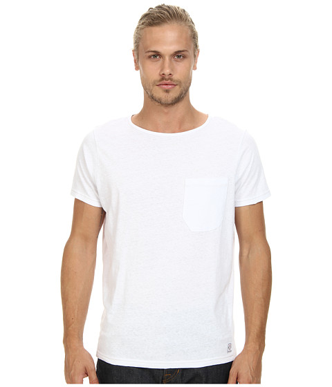 French Connection - Livingstone Plain Crew (White) Men's Short Sleeve Pullover