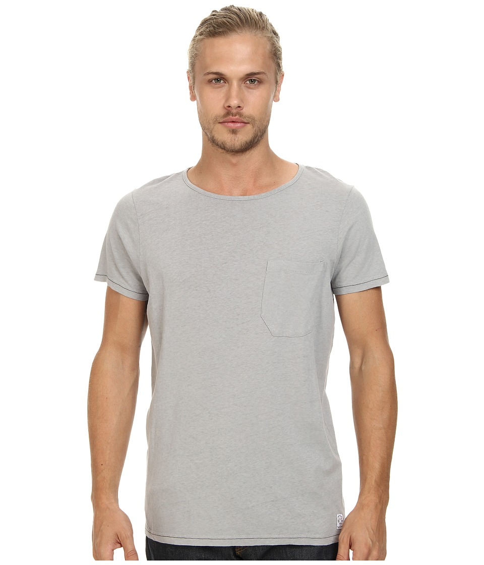 French Connection - Livingstone Plain Crew (Grey) Men's Short Sleeve Pullover