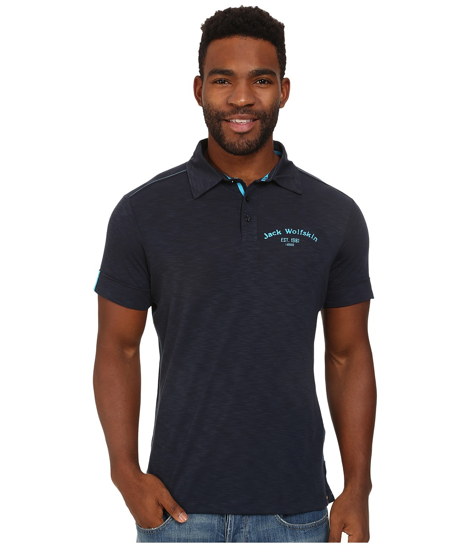 Jack Wolfskin - Travel Polo (Night Blue) Men's Clothing