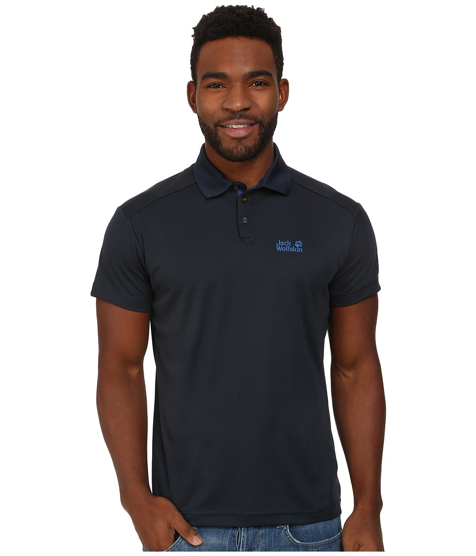 Jack Wolfskin - Coolmax Pique Polo (Night Blue) Men's Clothing