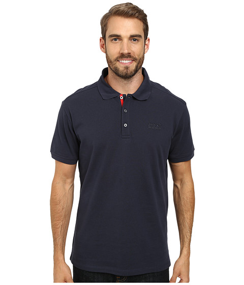 Jack Wolfskin - Polo Shirt (Night Blue) Men's Clothing