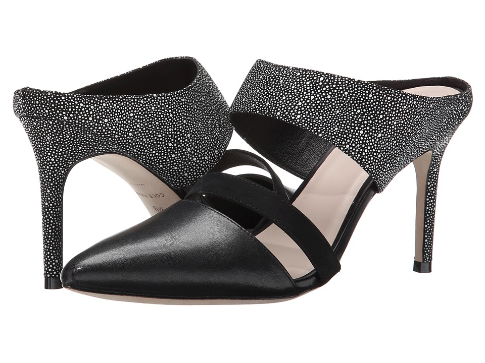 Cole Haan - Lexington Pump 85 (Black/White/Black Nubuck) High Heels
